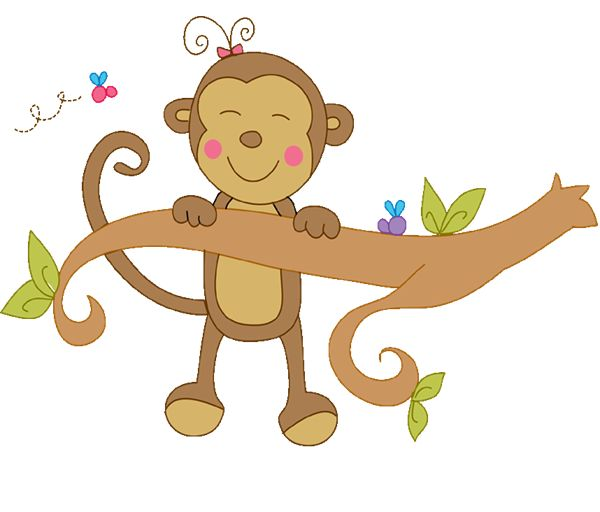 clipart monkey hanging from tree - photo #32