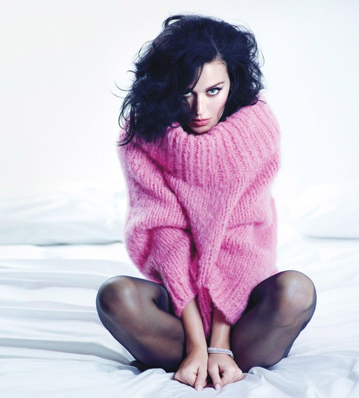 Katy Perry: America's Biggest Export Goes Glam - Katy Perry in a hot pink sweater