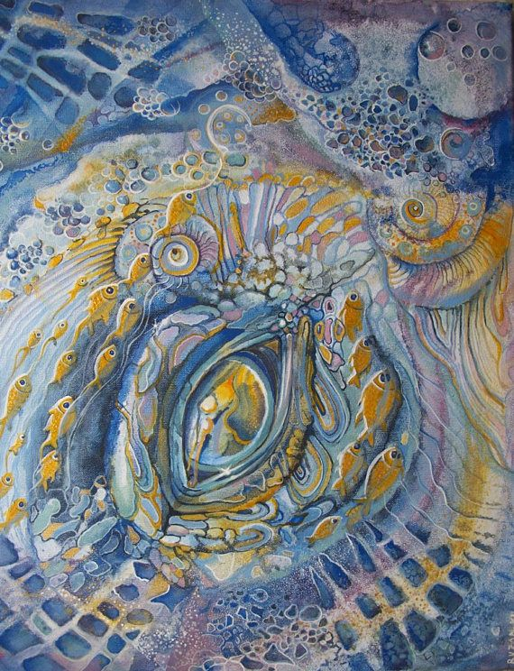 L'occhio dell'oceano dipinto decorativo dipinto