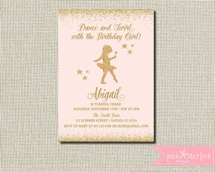 35 best ballerina party for lilas 4th bday images on pinterest ballerina invitation ballerina birthdaypink and gold tutu birthday invitation tutu birthday invitation filmwisefo Image collections
