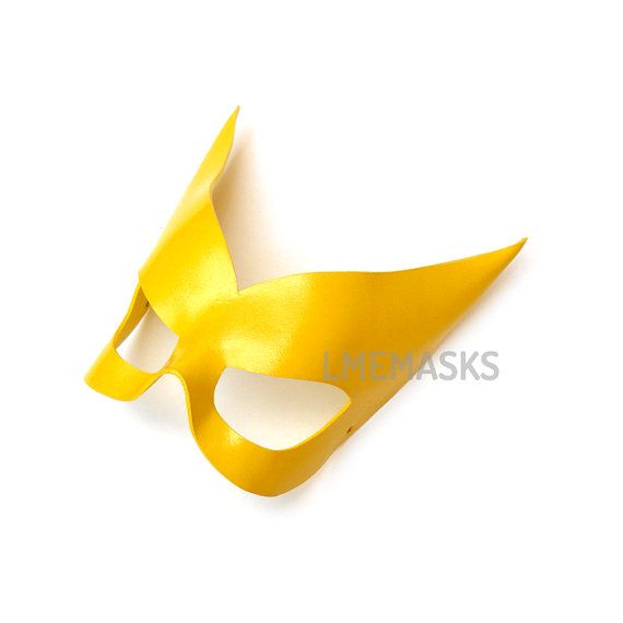 Leather Mask Yellow Gold Jean Grey Marvel Girl X-men Phoenix