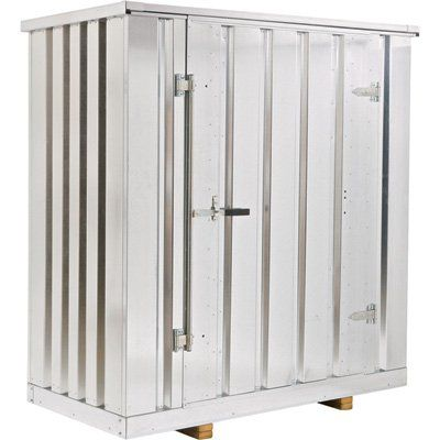 West Galvanized Steel Storage Container Kit — 137 Cu. Ft., Model# Store41  FOR WOOD STORAGE