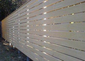 Horizontal Timber Slat Fences and Screens