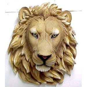 African Lion Head Mount Wall Statue Bust Leo