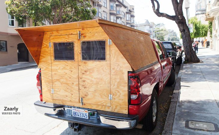A handyman made his own custom wooden truck camper for Cabover house plans