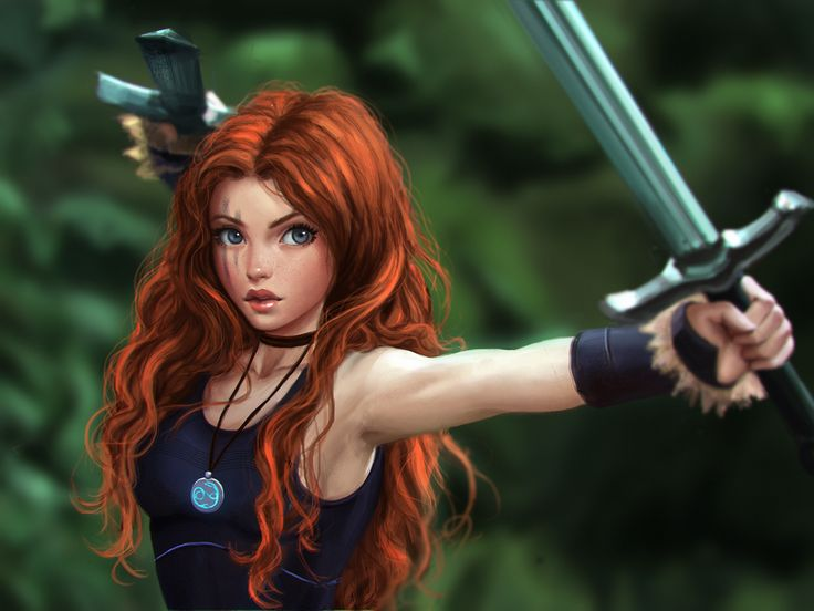 celtic warrior princess by ckimart.deviantart.com on @DeviantArt