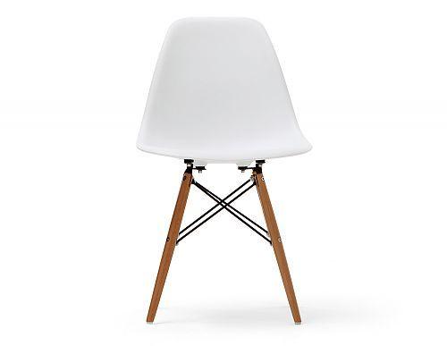 Polypropylene chair with solid beech legs.