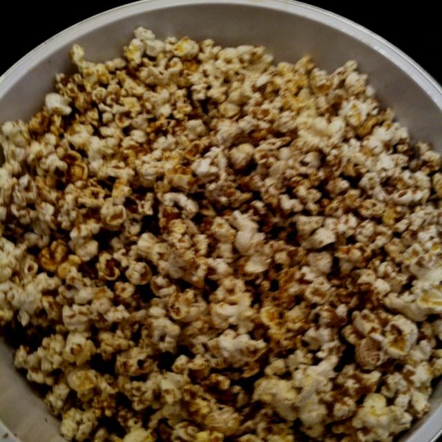 Sugar and spice popcorn--Pop desired amount of natural popcorn ...