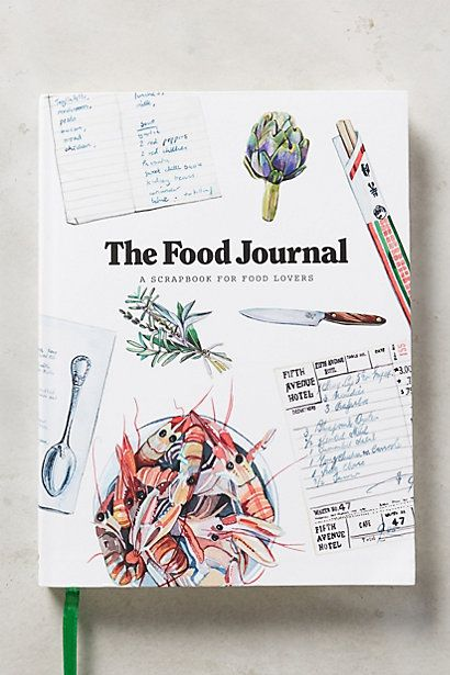 The Food Journal #anthropologie This would be a great gift for any new chiefs in your life!