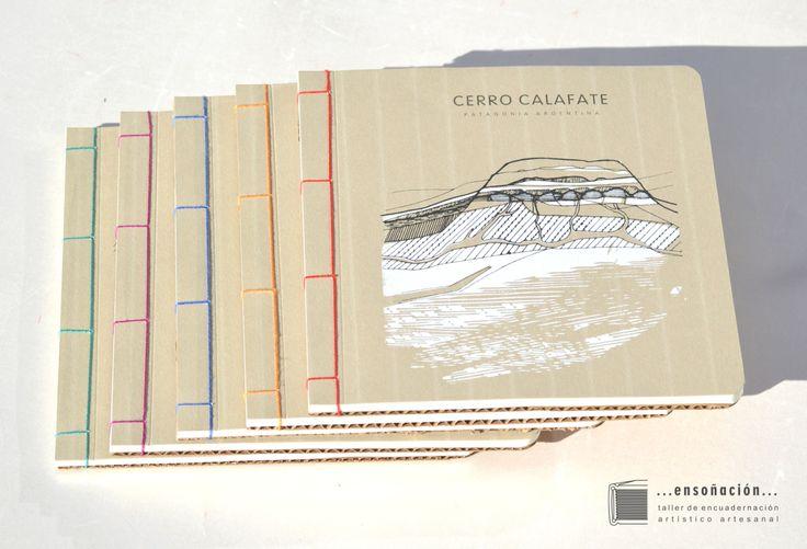 Libretas reutilizando caratulas de agendas 2017 – Dibujo y serigrafia de @entrerizomas Encuadernación oriental – Cubierta de serigrafia a 2 colores sobre papel de 200grs y cartón recic…