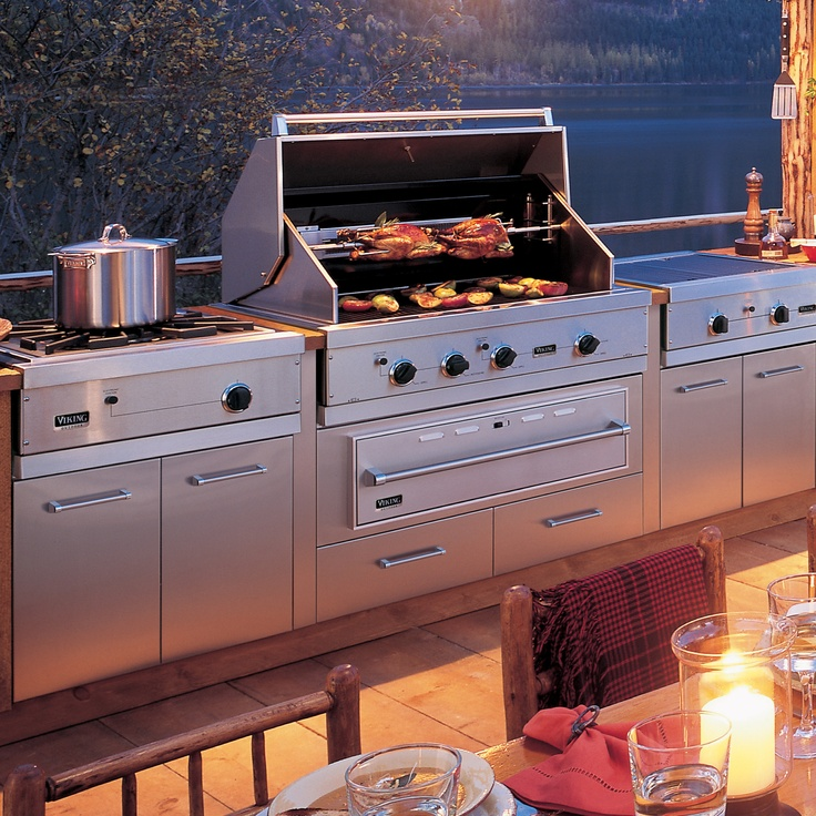 1000 ideas about outdoor gas grills on pinterest best for Viking built in grill