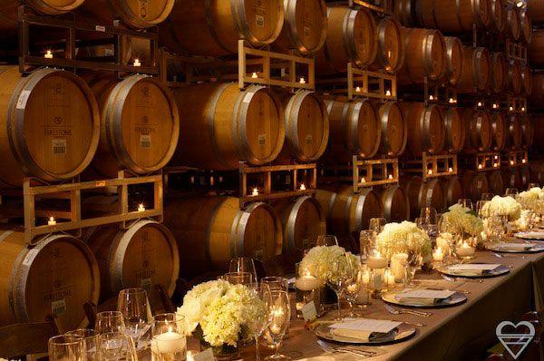 vineyard wedding - simple centerpieces