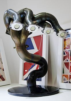 formula one exhaust pipe lamp, by memento exclusives
