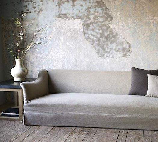 25 best Distressed Walls ideas on Pinterest : 9dbbcf1b273fd009249fdc6e97b162f9 gray sofa grey velvet sofa from www.pinterest.com size 525 x 469 jpeg 45kB
