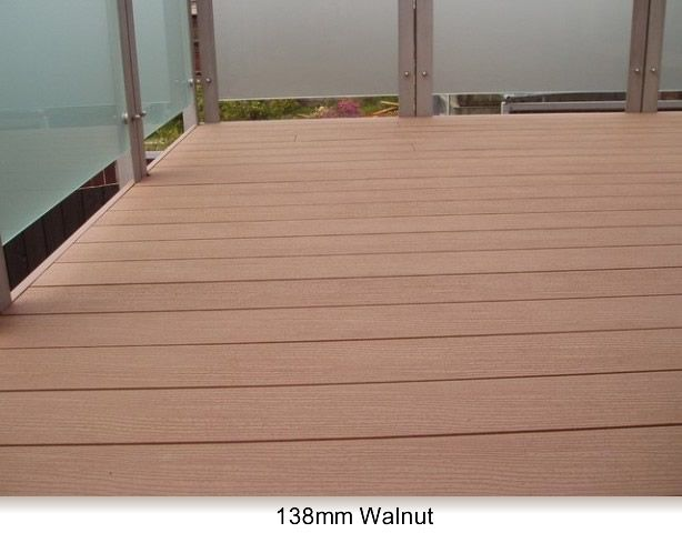Sustainable decking from futurewood nz this one in walnut for Sustainable decking