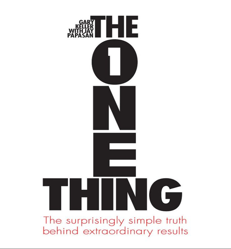 """What's Your One Thing?"" is a book by Gary Keller and Jay Papasan that Rodrigo breaks into little chunks for a more convenient read. Excellent book on topics such as focusing on tasks, staying on track, and achieving your goals more efficiently."