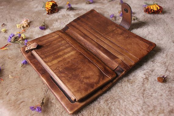 Hey, I found this really awesome Etsy listing at https://www.etsy.com/listing/243669990/leather-wallet-womanbrown-leather