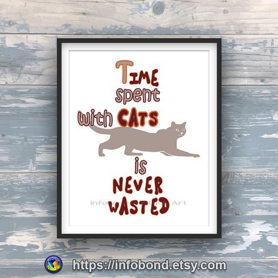 SHOP DISCOUNT CODES, Cat quote painting, Cat printable, Cat word art, Cat poster print, Cat quotes images, Cat picture, De quote, Home quote