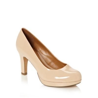 Clarks Natural high heeled patent leather court shoes- at Debenhams.com