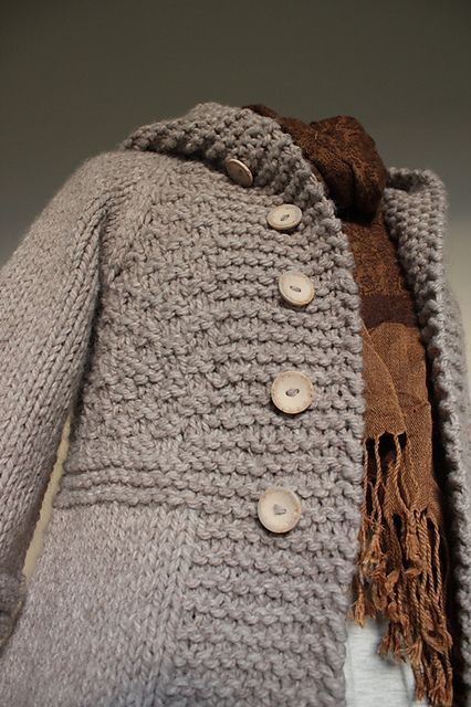 """Ravelry: Project Gallery for 109-8 Knitted jacket in """"Eskimo"""" pattern by DROPS design"""