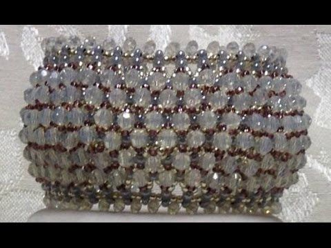 Video: Regal Lace Bracelet - something to do with all those bicone crystals. #Seed #Bead #Tutorials