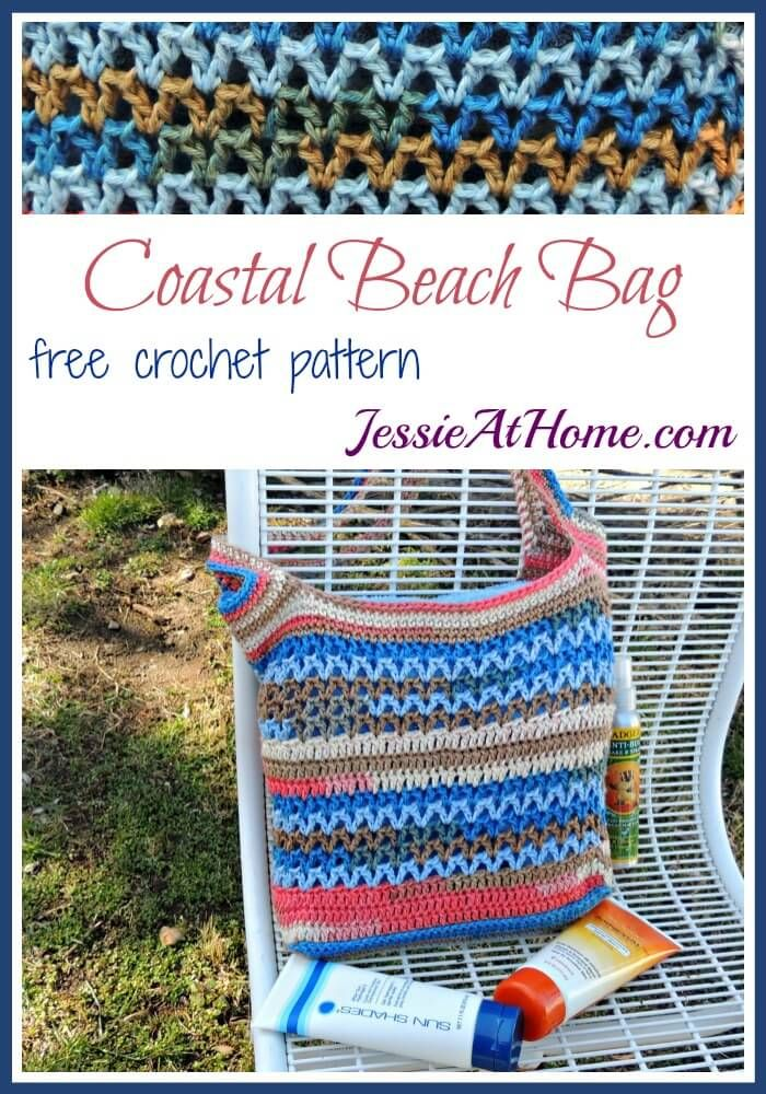 Free Crochet Patterns For The Home : Coastal Beach Bag free crochet pattern by Jessie At Home ...