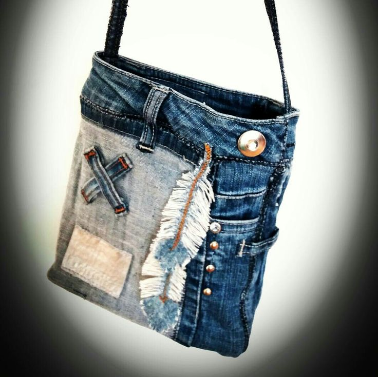 Photo of Bag by MannaDsign of recycled jeans. #jeansbag #boho # jeans bags #bo …