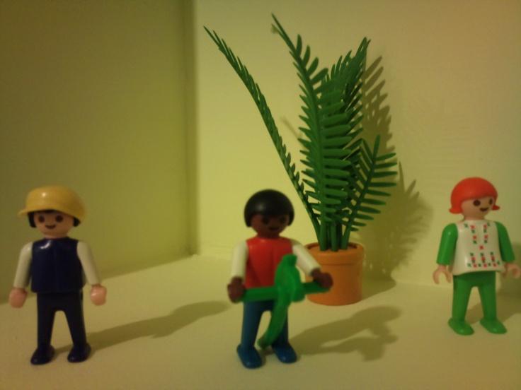Playmobil corner at child room