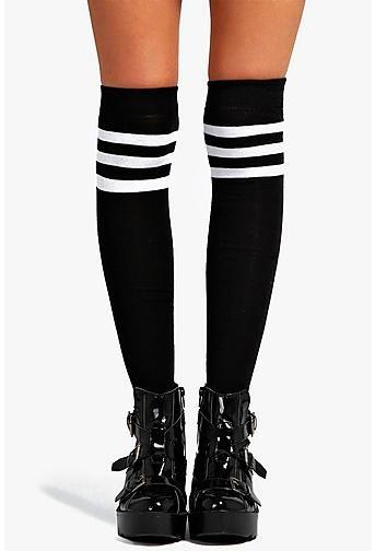 Catherine Stripe Top Knee High Socks