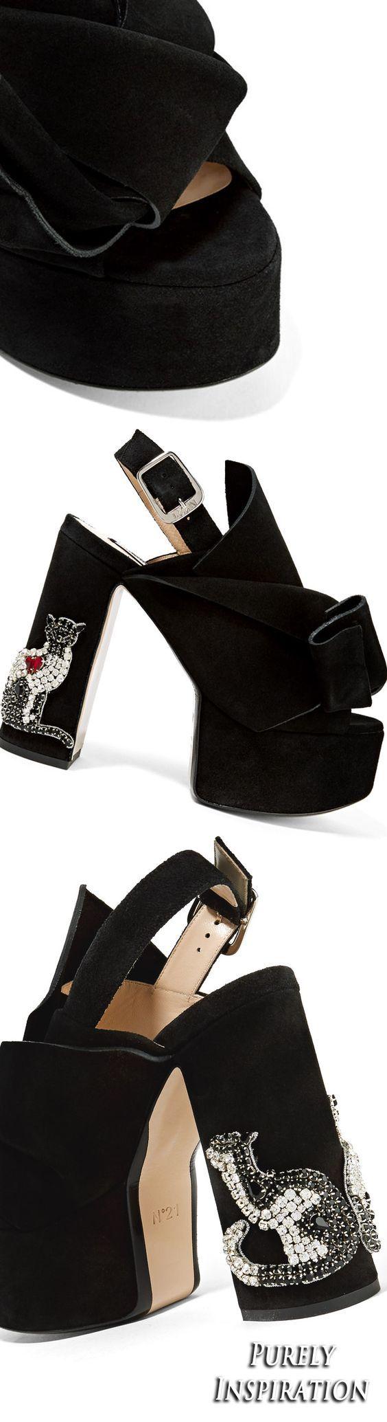 No. 21 suede platform sandals   Purely Inspiration: