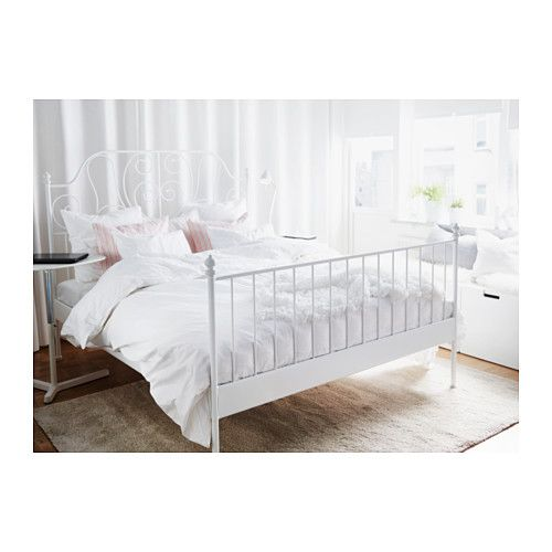 leirvik bed frame ikea 16 slats of layer glued birch adjust to your body weight - Ikea King Size Bed Frame