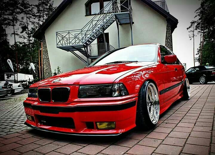 BMW E36 M3 Red Deep Dish Ultimate Driving Machine