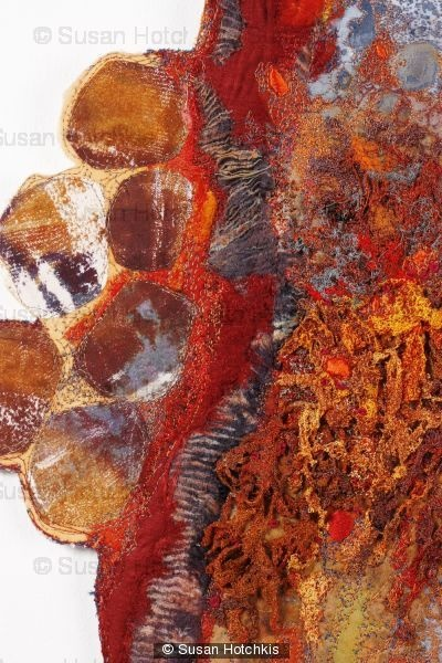 Sue Hotchkis Susan Hotchkis textile designer stitched abstract art