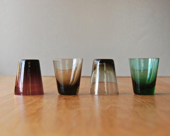 Vintage Scandinavian Modern Shot Glasses