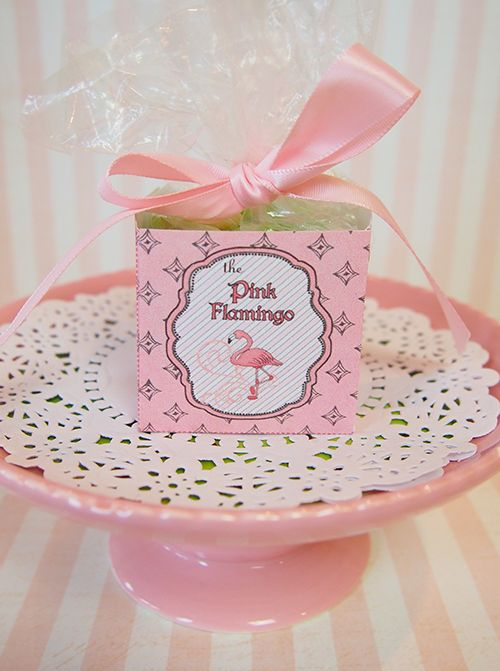 """""""Pink Flamingo"""" Party Theme  Lots of great printables including Homemade Party Favor Candy Box"""