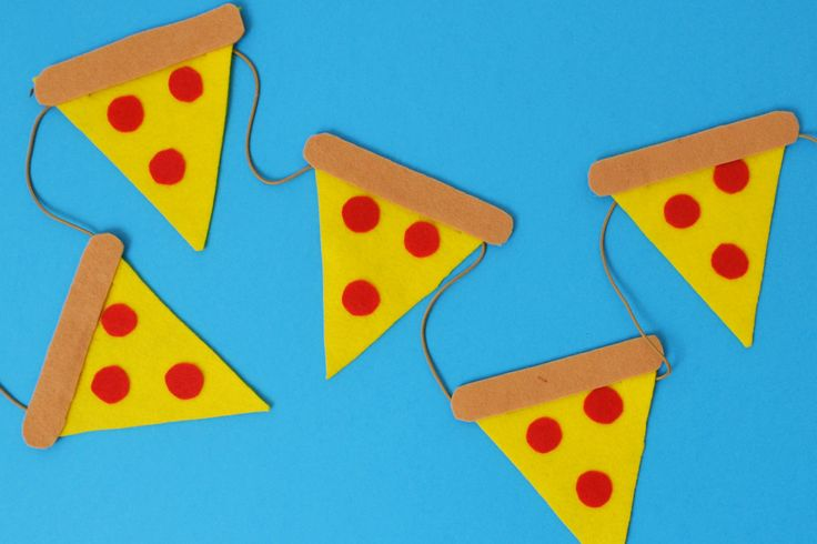 DIY Pizza Bunting Party Decoration