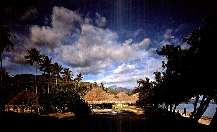 Old Tahiti Village Postcard - My home for a year in 1969.