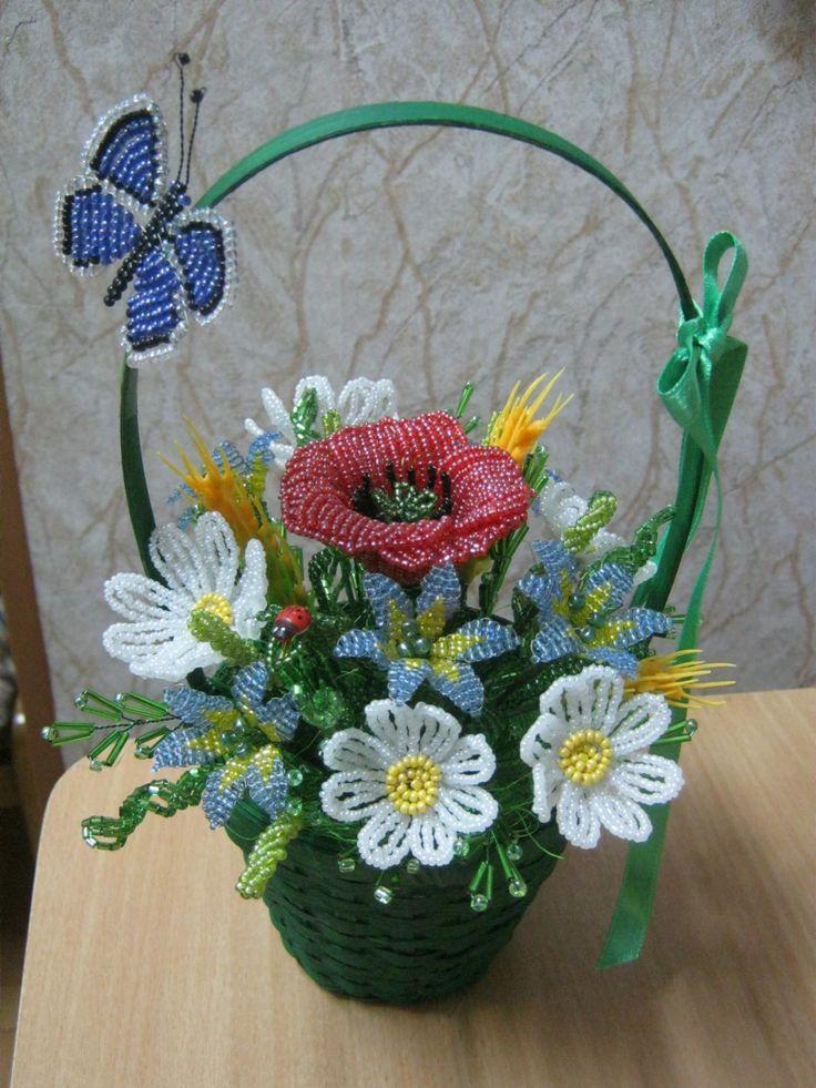 Корзинка полевых цветов
