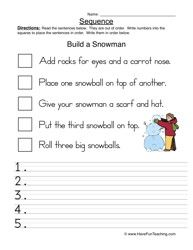simple instructions year 1