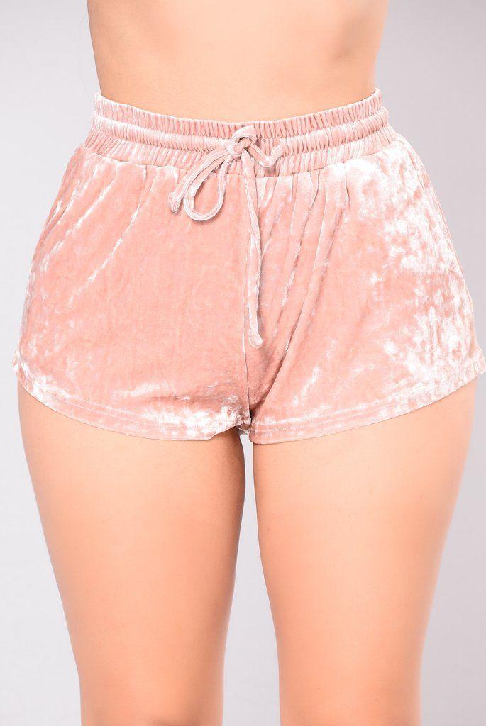 Samantha Velvet Shorts - Mauve
