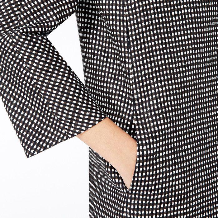 CAMPOS - Cappottino couture in tela di lino stampa micro-geometrica , Primavera Estate 2014 | Weekend Max Mara