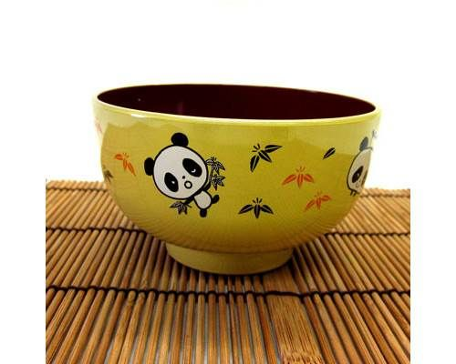 Our Panda Bowl is the perfect way to serve soup or rice to your child. The bowl is made of plastic making it very durable. Give as a gift with a pair of our training chopsticks!      4' in diameter     2 1/4' Tall