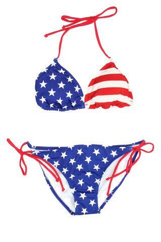 American flag triangle bikini use code FREESHIP at checkout !