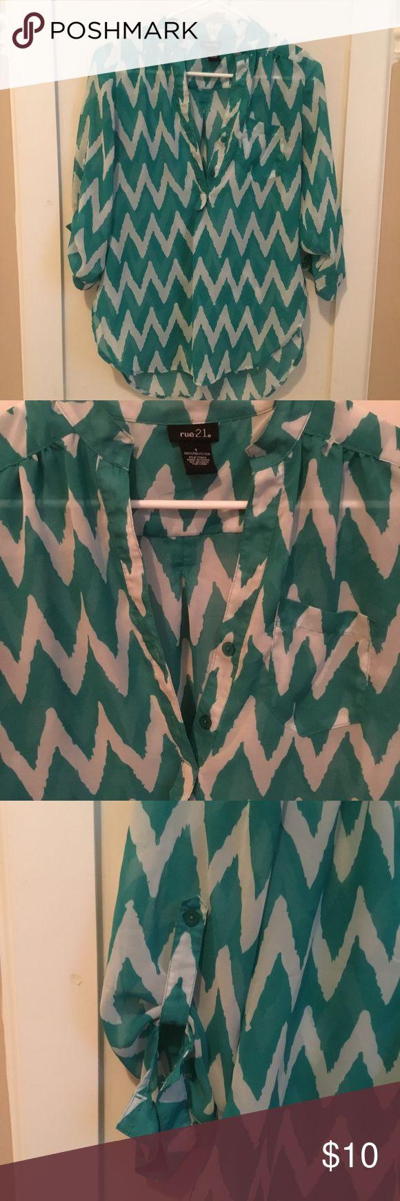 Chevron blouse Shear summer shirt Rue21 Tops Blouses