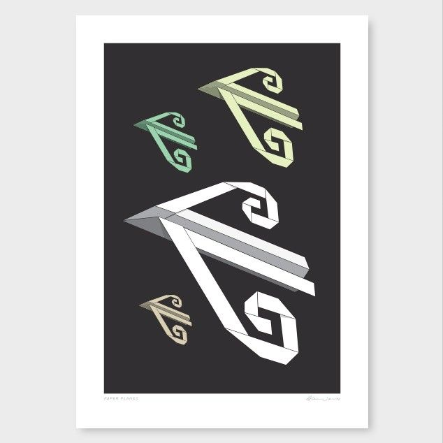 Paper Planes by Glenn Jones - Art Prints NZ Art Prints, Design Prints, Posters & NZ Design Gifts   endemicworld