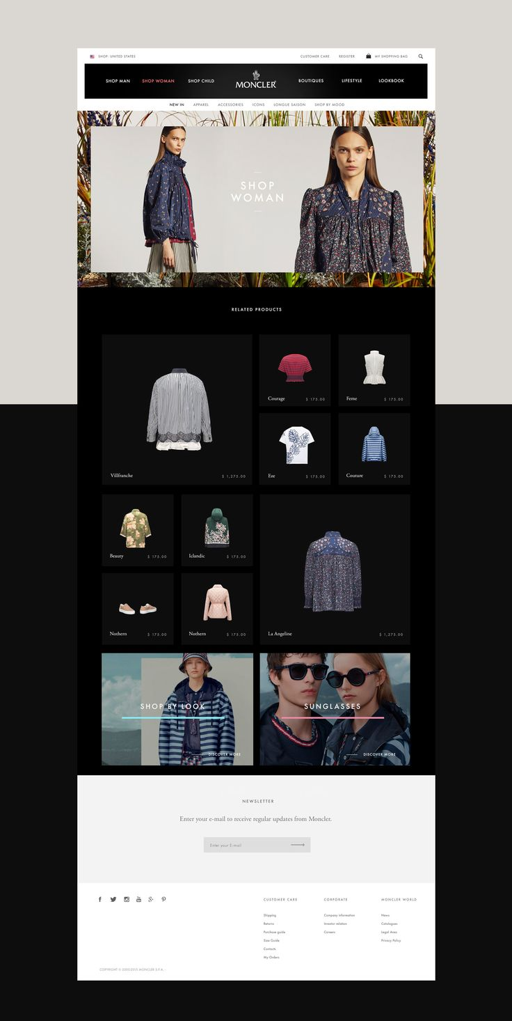 Moncler - e-commerce website design