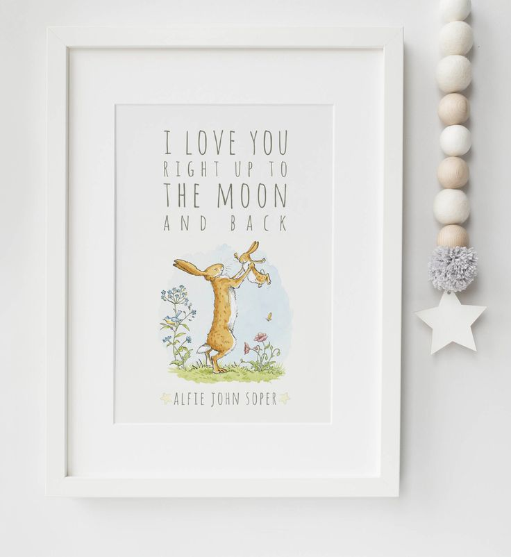 Guess How Much I Love You Personalised Baby/Chid Boy/Girl Nursery Birth Name Quote Print Keepsake Picture Christening Gift by LexisLittlePrints on Etsy