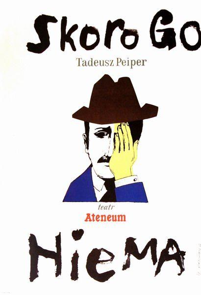 As He is Not Here Skoro go niema Tomaszewski Henryk Polish Poster