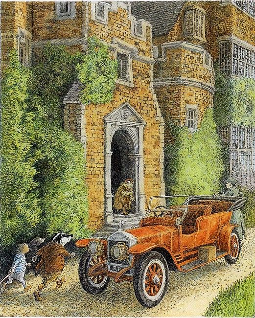Inga Moore illustration for 'The Wind in the Willows' by Kenneth Grahame