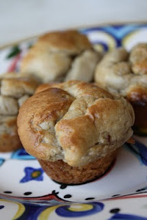 Banana gluten free muffin made with nut butter. Sounds delightful.